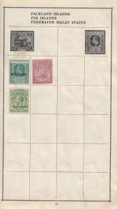 Falkland Island Fiji War Stamp One Half Penny 3x Stamp Bundle