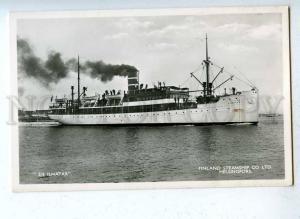 203261 FINLAND HELSINKI steamship ILMATAR Old photo postcard