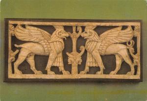 BR49909 ram headed sphinxes between sacred tree     Syria