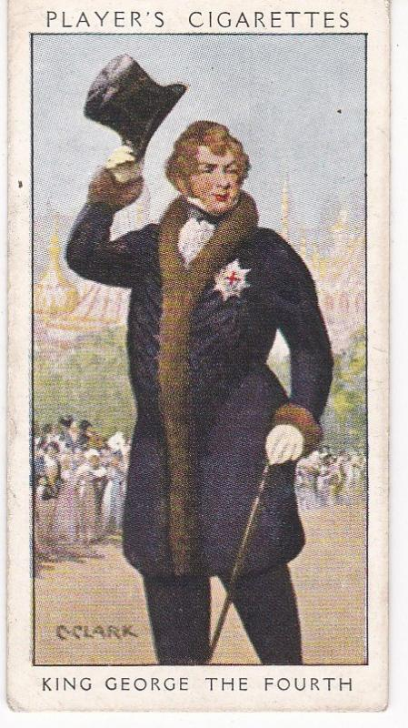 Cigarette Card Player's Dandies No 29 King George the Fourth