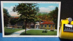 STD Vintage Anderson Auditorium Montreat North Carolina Unposted