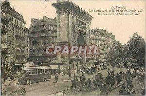Old Postcard PARIS Boulevard and the Porte St. Denis