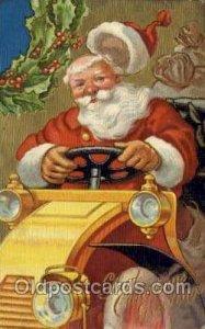 Santa Claus writing on back crease top edge, minor corner wear, writing on back