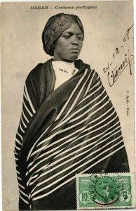 CPA AK Senegal-Dakar-Costume portugais (235443)