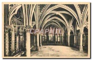 Old Postcard Paris Sainte Chapelle Lower Chapel