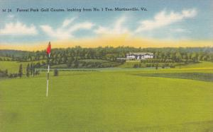 ForestPark Golf Course , #1 Tee , MARTINSVILLE , Virginia , 30-40s
