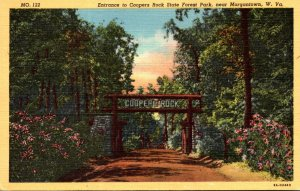 West Virginia Morgantown Entrance To Coopers Rock State Forest Park 1964 Curt...