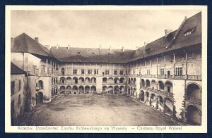 Chateau Royal Wawel Krakow Poland unused c1920's