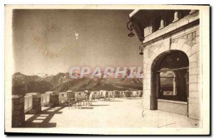 Postcard Old Hotel Superbagneres view of a guard of the mountain range