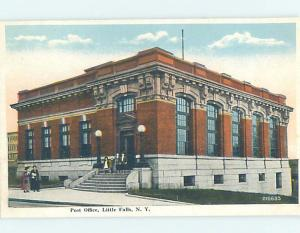 W-border POST OFFICE SCENE Little Falls - Near Herkimer New York NY AF1090