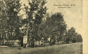 russia, SYZRAN Сызрань, Moscow Street (1910s) Postcard