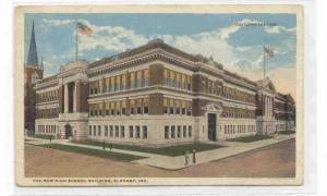 The New High School Building, Elkhart, Indiana, 1910-1920s