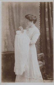 Mother & Newborn Baby Taunton Somerset Real Photo Postcard