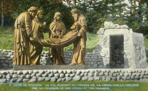 Canada - Quebec, Ste Anne de Beaupre - 14th Station of the Cross