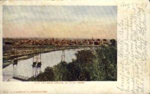 City and High Bridge St. Paul MN 1904