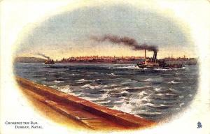 Ship Crossing the Bar Durban Natal Raphael Tuck Postcard