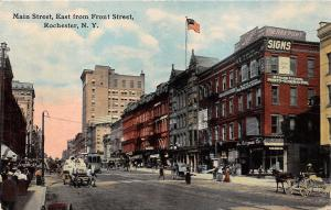 Poughkeepsie New York~Main Street East@ Front~Pierrepont Signs~Horse & Buggy~'12