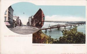 Iowa Burlington Jefferson Street & Mississippi Bridge
