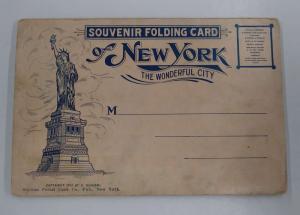 New York City Fold Out Views Antique Postcard Folder J79851