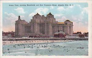 New Jersey Atlantic City Ocean View Showing Boardwalk And New Traymore Hotel