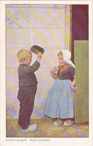 Netherlands Volendam Children Goeden Morgen