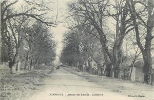 CPA France Commercy avenue des Tilleuls cimitiere cemetery street