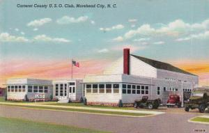 North Carolina Moorehead City Carteret County U S O Club 1947 Curteich