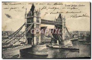 Old Postcard London Tower Bridge