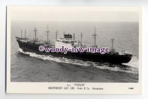 cb0619 - Dutch Ind Gulf Line Cargo Ship - Ittersum , built 1960 - postcard