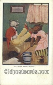 430 Busy Bears - Friday, Bear Postcard Post Card Old Vintage Antique 430 - Fr...