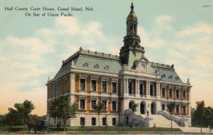 GRAND ISLAND, Nebraska, 1900-10s; Hall County Court House, On Line of Union P...