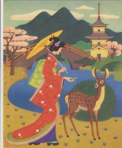 Ocean Liner S.S. PRESIDENT POLK Menu, Dinner 1949 : Geisha Girl