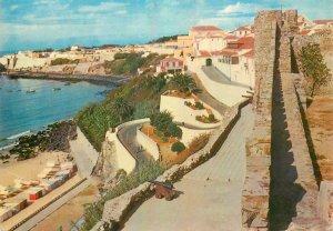 Postcard Portugal Alentejo sines way down to the beach sea-side architecture