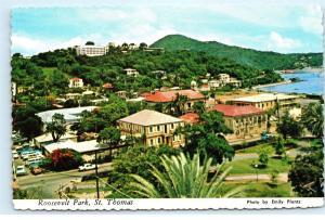 St. Thomas US Virgin Islands Roosevelt Park Bluebeard's Castle 4X6 Postcard A65