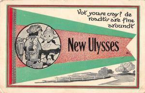 New Ulysses Kansas Greetings Dutch Children Pennant Postcard JA4742273