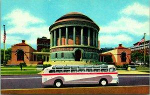 Vtg Chrome Postcard Chicago Illinois IL Elks National War Memorial Tour Bus UNP