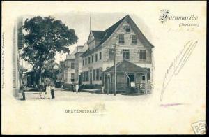 suriname, PARAMARIBO, Gravenstraat (1902) Stamps Cancel