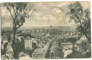 Italy, GENOVA, Panorama, 1911 used Postcard