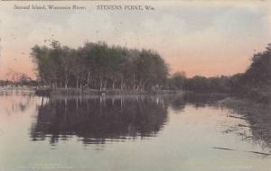 Second Island, Wisconsin River, Stevens Point, Wisconsin, PU-1923