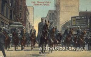 Mounted Police Carnival Parade, Parades Postcard Post Card  Mounted Police