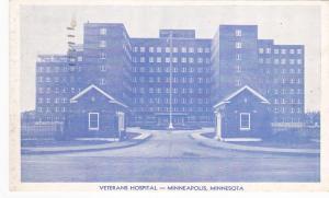 MINNEAPOLIS, Minnesota, PU-1958; Veterans Hospital