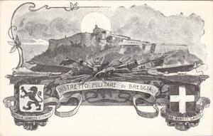 Coat of Arms, Distretto Militare di Brescia, Cannons, Swords, Sempre avanti S...