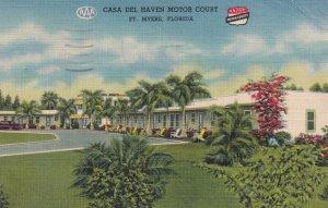 FORT MYERS, Florida, PU-1955; Casa Del Haven Motor Court