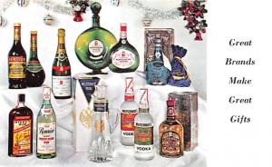 Wine and Liquor Advertising Old Vintage Antique Post Card Wolfschmidt Vodka U...