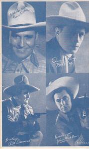 Cowboy Arcade Card Gene Autry Tom Tyler Bill Desmong Johnny Mack Brown