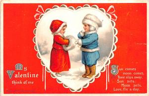 Valentines Day Post Card Old Vintage Antique Postcard writing on back