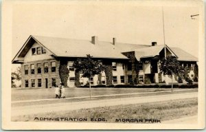 DULUTH, Minn. RPPC Photo Postcard Admin. Building MORGAN PARK US Steel Works