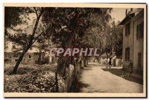 Old Postcard The islands of Porquerolles & # 39Hyeres Main Street