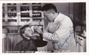 Butch Jenkins and Chingwah Lee In MGM's Little Mr Jim Signed Real Photo