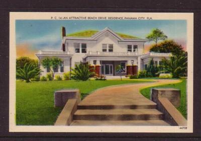 Florida colour PC Attractive Beach Drive Residence, Panama City, unused